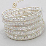 Bratara colier siret alb cristale albe - PK2276