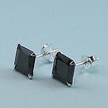 Cercei argint 925 si zircon negru/6 mm - CT23D