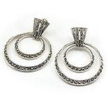 Cercei argint cu marcasite - CT202