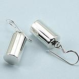 Cercei argint cilindru lucios - CL8
