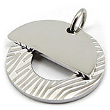 Medalion din inox placute suprapuse - PI3