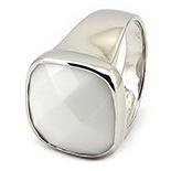 Inel argint si milky stone - IO500