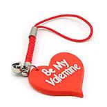 "Breloc telefon mobil - ""Be My Valentine"" - BP8"