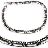 Colier argint cu marcasit - LO800