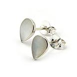 Cercei argint micuti cu sidef alb - CF763