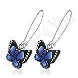 Cercei fashion fluture albastru - BF1432
