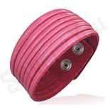Bratara piele dama culoare roz - BF6140