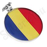 Pandantiv inox medalion steagul Romaniei - PK1613