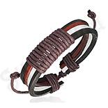 Bratara piele negru rosu alb - PK1695