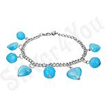 Bratara fantezie cu cristale albastre - PK1544