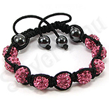 Bratara shamballa cristale roz - BR6004