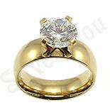 Inel de logodna cu zircon alb - BR6028