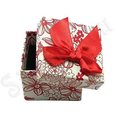 Cutie cartonata cu fundita rosie ptr inel - BG6025