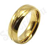 Verigheta inox aurit cu linii gravate - BR6139