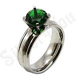 Inel inox cu zircon verde - BR6141