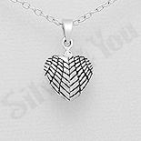 Pandantiv argint inima aripi de inger - AR184
