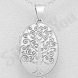 Pandantiv argint copacul vietii casetuta - AR324