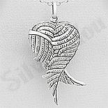 Pandantiv argint patinat casetuta aripi inger - AR197