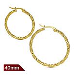 Cercei inox model rasucit in culoarea aurului/4.5 cm - LR5071