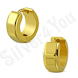 Cercei inox in culoarea aurului/1.3 cm - LR5078