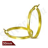 Cercei inox in culoarea aurului - LR5080