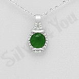 Pandantiv argint cu zirconiu verde deschis - AR121