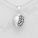 Pandantiv argint inima cu mesaj - AR186