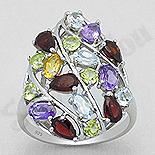 Inel argint cu pietre semipretioase colorate - AR204