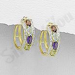Cercei argint aurit cu pietre semipretioase - AR207