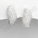 Cercei argint  cu zirconii albe - AR163