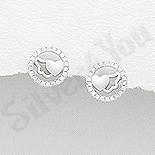 Cercei argint cerc cu inimioara - AR170