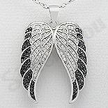 Pandantiv argint aripi inger cu zirconii - AR105