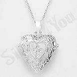 Colier argint inima - AR113