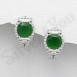 Cercei argint cu zirconiu verde - AR119