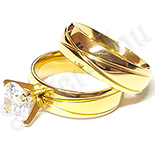 Set verigheta si inel inox cu zirconii albe - BR6139A