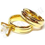 Set verigheta si inel cu zirconii albe - BR6198A
