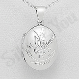 Pandantiv argint casetuta ovala - AS137