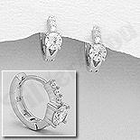 Cercei argint cu zirconii albe - AS110