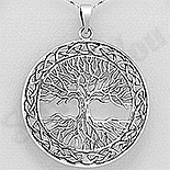 Pandantiv argint patinat copacul vietii - AS123
