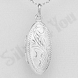 Pandantiv argint casetuta ovala - AS129