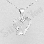 Pandantiv argint inimioara - AS152