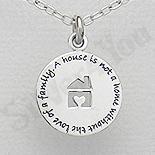 Pandantiv argint banut casuta cu mesaj - AS165