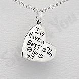 Pandantiv argint inima cu mesaj - AS163