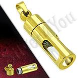 Pandantiv inox aurit cilindru - PK6010