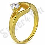 Inel de logodna inox aurit - PK6005