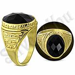 Ghiul inox aurit cu onix negru - PK6007
